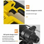 Brushless Hammer Drill, Multifunctional Rechargeable Lithium Battery, High-Power Three-In-One Hammer Drill, SDS Rotary Hammer Drill