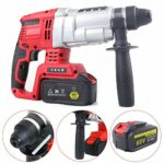 DNYSYSJ 800W Rotary Hammer Drill Electric Demolition Punch Concrete Crusher Portable Low Noise Electric Hammer Sleeve Brushless Copper Core Motor Four-in-One Multi-Function Punching Tool 110V 1050RPM