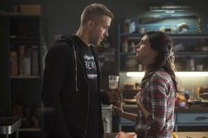 Wade Wilson (Ryan Reynolds) with girlfriend Vanessa (Morena Baccarin)
