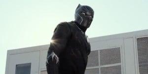 Chadwick Boseman makes his debut as Black Panther.