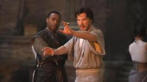 Stephen Strange learns to hone his energy with Mordo (Chiwetel Ejifor)