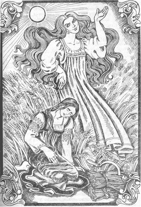Lady Midday is a Slavic demon who floats around workers toiling in fields, asking them tough questions. If they  answer incorrectly, she removes their head with a scythe.