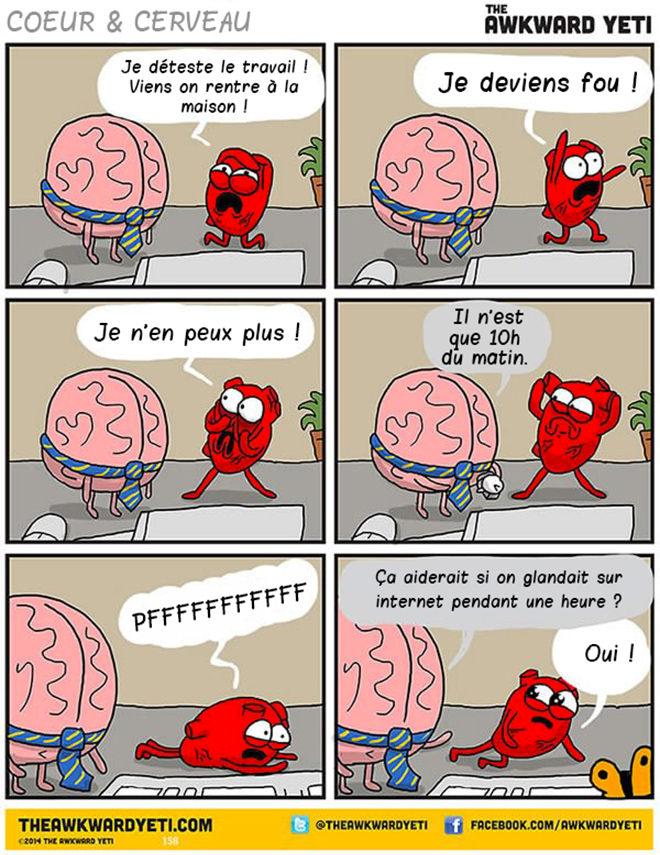 Cerveau VS Coeur La Bande Dessine Qui Illustre