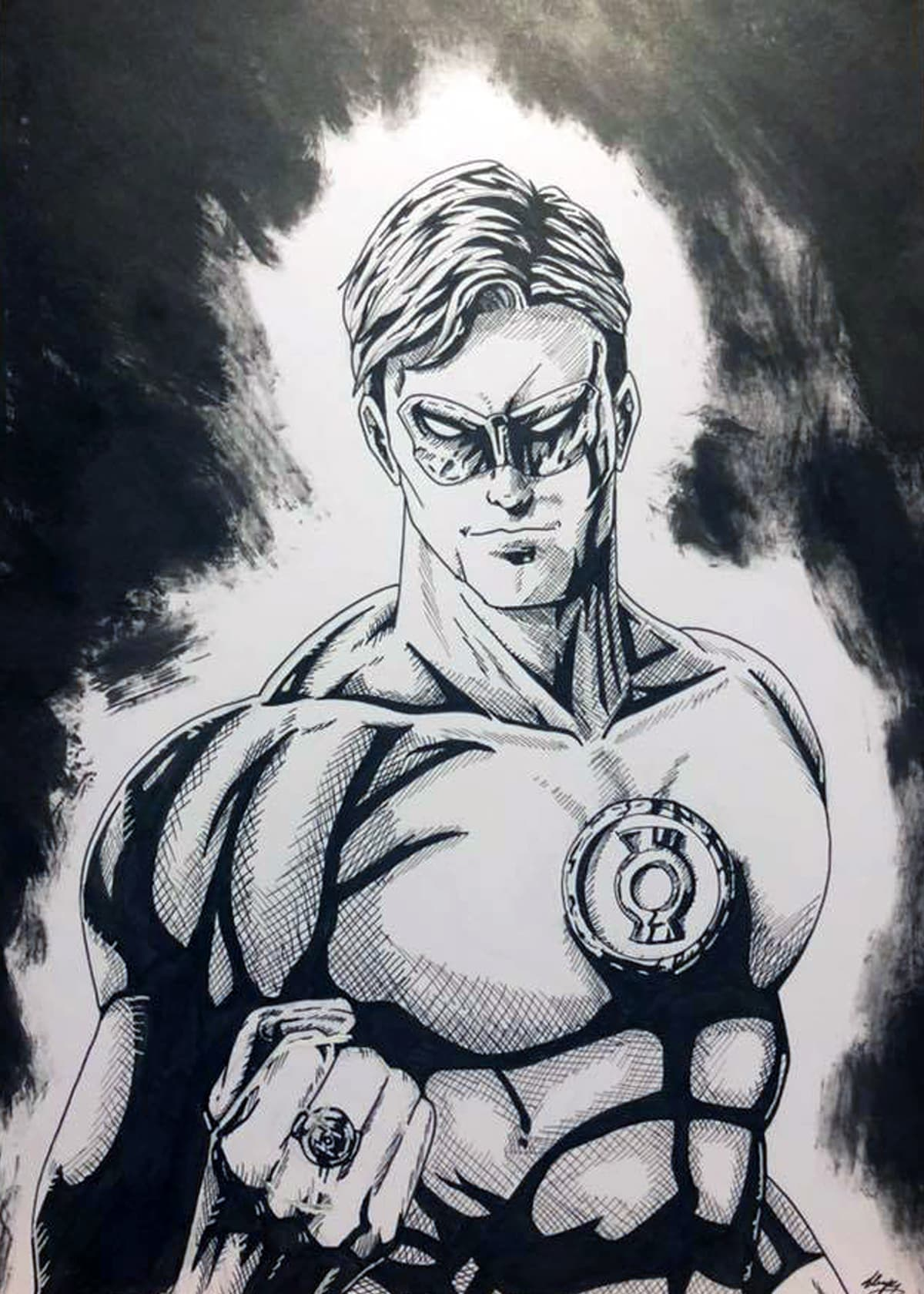 Green Lantern Hal Jordan Illustration Dempseyj Illustrations