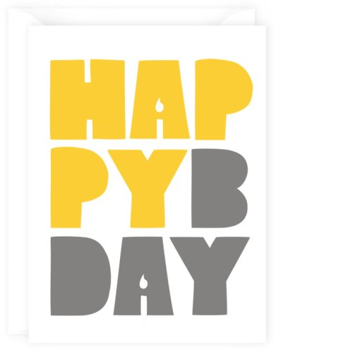 happy birthday card yellow