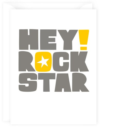 hey rock star card