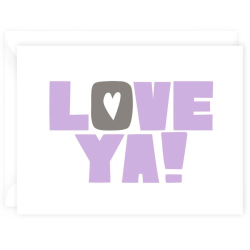 love ya card purple