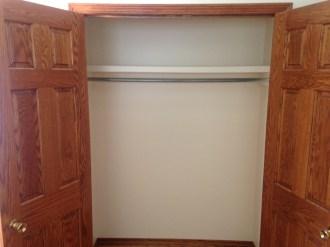 Meadowbrook closet with 6-panel wood doors