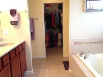 Master Bathroom to Master Closet