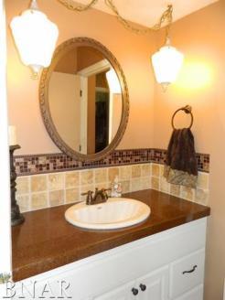 Bathroom with Tile BackSplash
