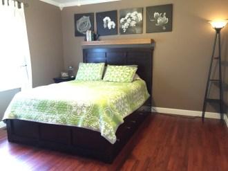 Bedroom 1 wood floors