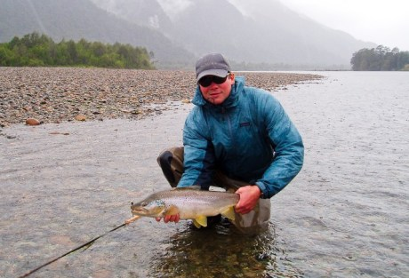 Fishin' can be good in the rain.  Photo: Trevor Covich
