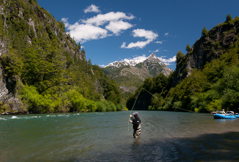 Chile Trout Fishing by Wading