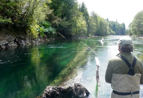 David fishes spot #2.  Photo: Chris Price
