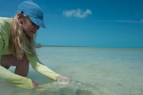 Hooking Bonefish