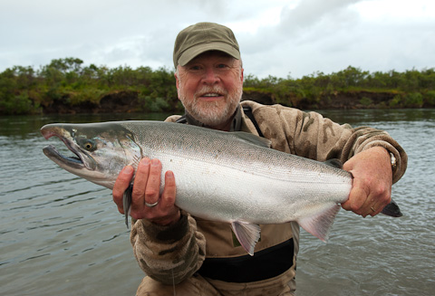 Silver Salmon Fishing at Alaska West