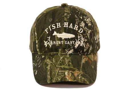 Fish Hard Rest Easy Cap