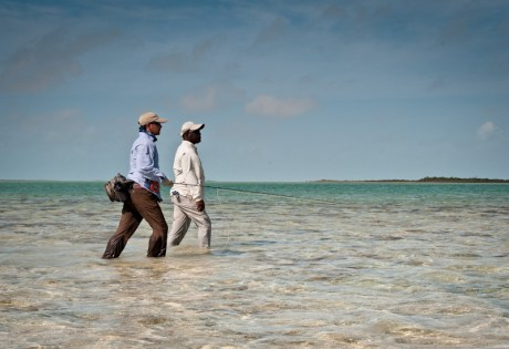 Wading for Bonefish by Louis Cahill Photography