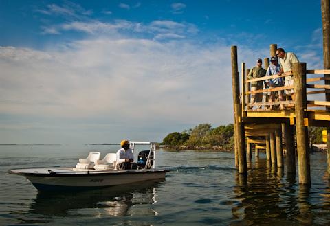 Bonefishing Skiff and Dock