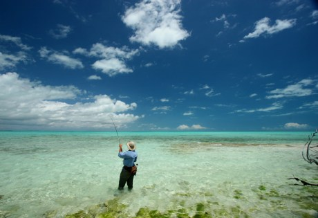 Wading on South Andros