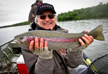 Alaska Rainbow Trout from Boat
