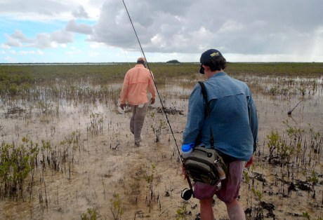 Hiking for Bonefish on South Andros