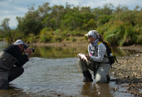 Cory and Mimi documenting the catch