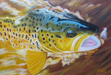 """Caught Ya' Caddis"" Oil Painting by Ben West"