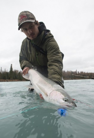 Grant Turner with Steelhead