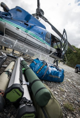 Helicopter and Fly Rods
