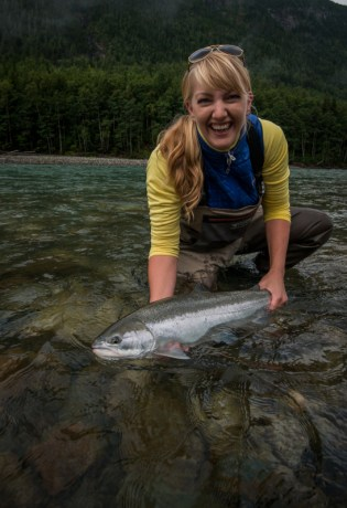 Kara Knight with Steelhead