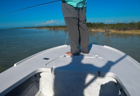 Fly Fishing for Bonefish from a Skiff