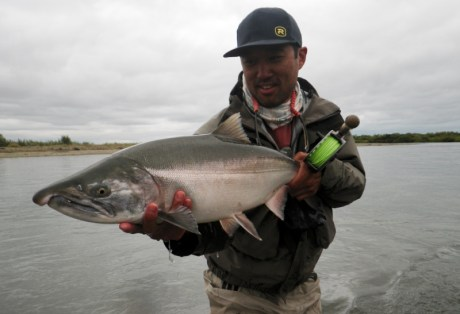 Fly Fishing for Silver Salmon at Alaska West