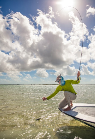 Landing Bonefish from a Boat