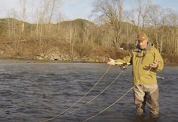 Managing Spey Running Line with George Cook.