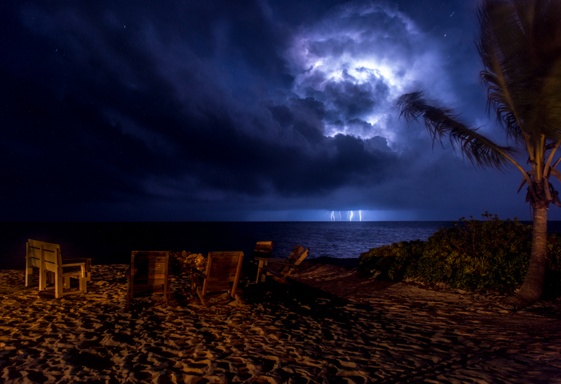 Lightning Storm on South Andros Island