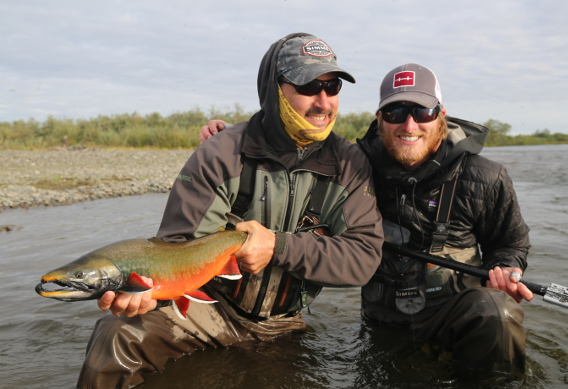 Fishing for dolly varden at Alaska West.