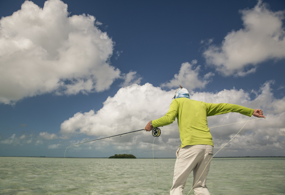 Setting the hook on bonefish by Hollis Bennett