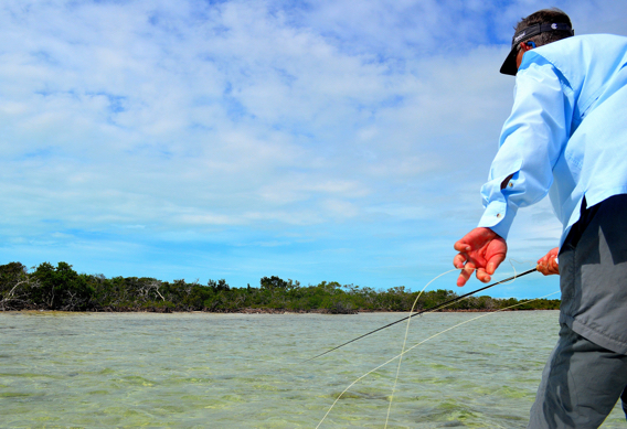 Retrieving the fly for bonefish.