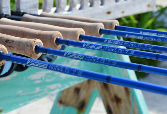 Sage MOTIVE saltwater fly rod series.