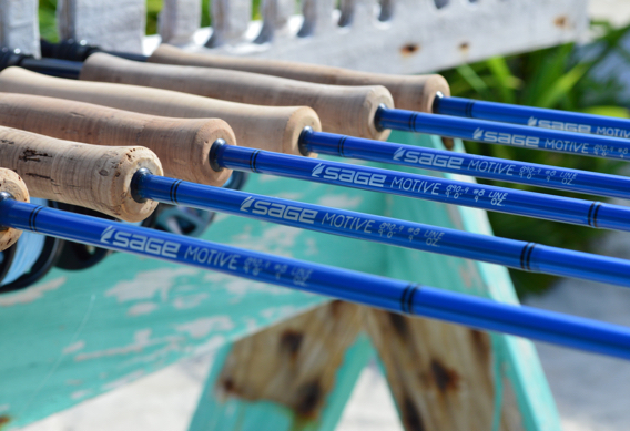 Sage MOTIVE saltwater fly rod series.