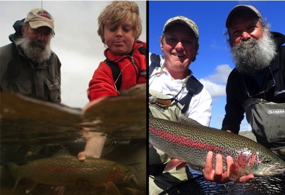 Fly fishing families at Alaska West.