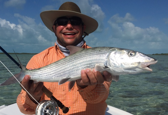 Fly fishing for bonefish on South Andros Island.