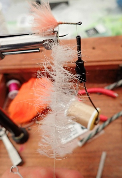 How to tie micro flesh flies for Alaskan trout.