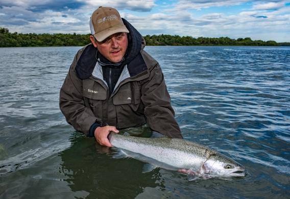 Big Naknek rainbow trout photo by Abe Blair.