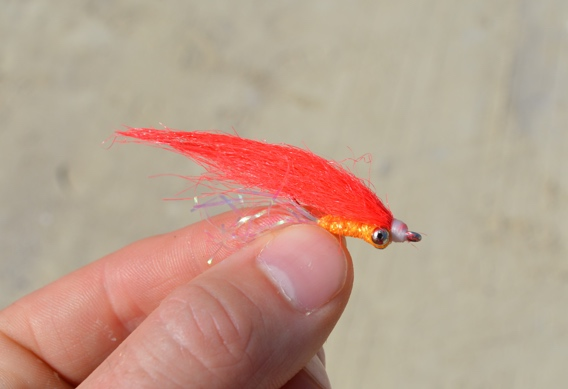 Tying practice flies for fly casting.