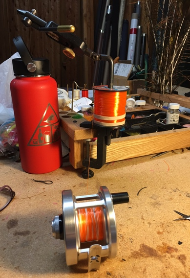 Rigging fly reels by yourself.