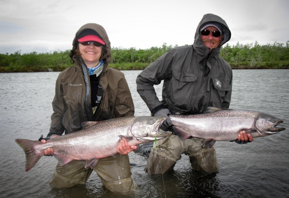 Double king salmon from Alaska West