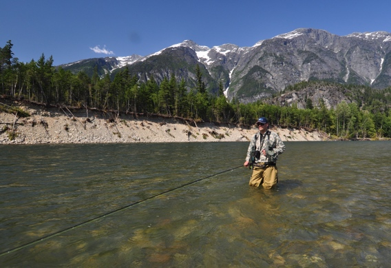 Fly fishing the dean river