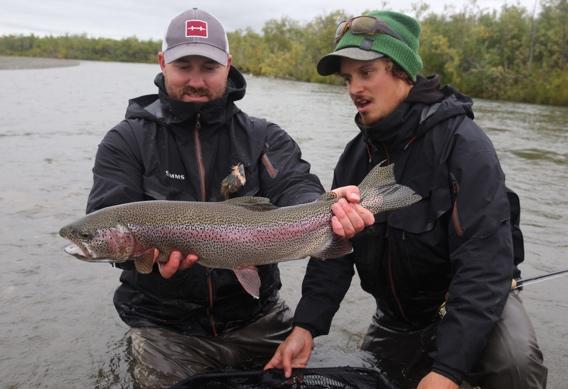 Matt Vaughn with a rainbow trout